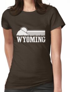 Wyoming Sunset Womens Fitted T-Shirt