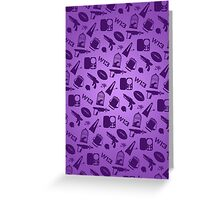 Warehouse 13 Case (Purple) Greeting Card