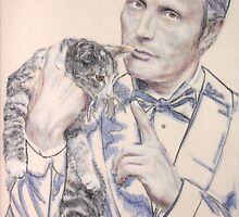 Mads and cat, i by Peter Brandt