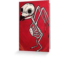 Cute owl Skeleton Greeting Card