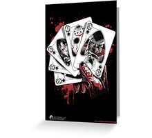 Killer Flush (K) Greeting Card