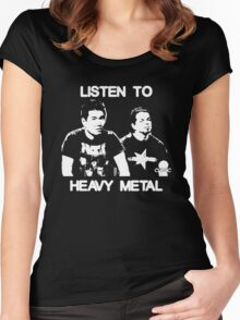 Listen To Heavy Metal Women's Fitted Scoop T-Shirt