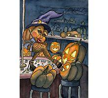 Pumpkin Stripper Photographic Print