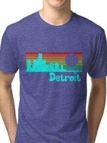 80's Retro Detroit (Distressed Design) Tri-blend T-Shirt