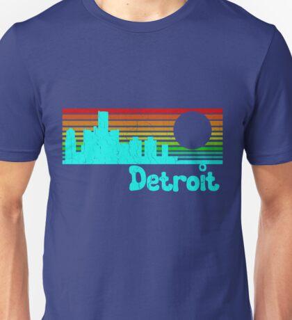 80's Retro Detroit (Distressed Design) Unisex T-Shirt