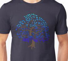 Blue Bonsai Tree Unisex T-Shirt