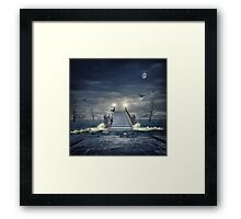 Over troubled waters Framed Print