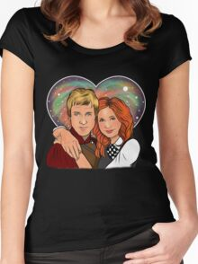 Heart Shaped Universe Women's Fitted Scoop T-Shirt