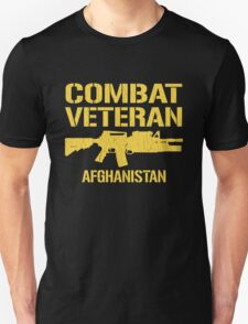 Combat Veteran Afghanistan (Distressed) T-Shirt