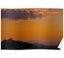 Sunset Over Athens Poster