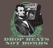 Lincoln: Drop Beats Not Bombs (Distressed Design) Kids Clothes