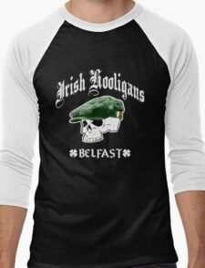 Irish Hooligans - Belfast, Ireland (Distressed Design) Men's Baseball ¾ T-Shirt