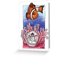 kmay xmas clown fish Greeting Card