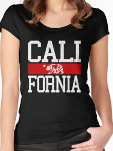 California Bear Flag (Distressed Design) Women's Fitted Scoop T-Shirt