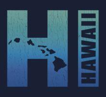 Big Blue Hawaii (Distressed Design) by robotface