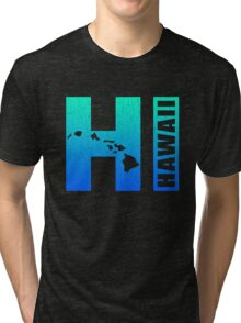 Big Blue Hawaii (Distressed Design) Tri-blend T-Shirt