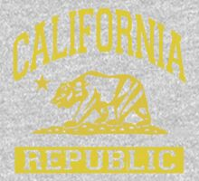 California Bear Republic (Vintage Distressed) Baby Tee
