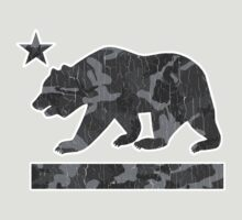 California Bear Urban Camo (Vintage Distressed) by robotface