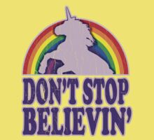 Don't Stop Believin' in Unicorns (Vintage Distressed) Kids Clothes
