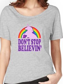 Don't Stop Believin' in Unicorns (Vintage Distressed) Women's Relaxed Fit T-Shirt