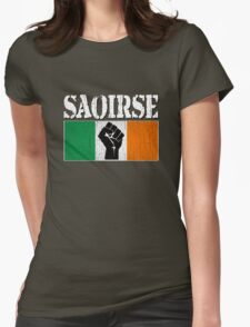 SAOIRSE - Freedom for Ireland (Vintage Distressed) Womens Fitted T-Shirt