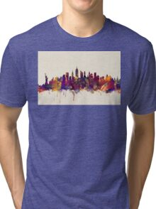 New York City Skyline Tri-blend T-Shirt