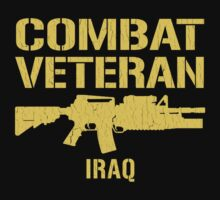 Combat Veteran IRAQ (Vintage Distressed) by robotface
