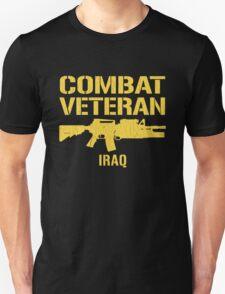 Combat Veteran IRAQ (Vintage Distressed) Unisex T-Shirt
