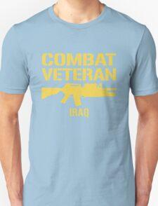 Combat Veteran IRAQ (Vintage Distressed) T-Shirt