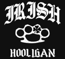 Irish Hooligan Brass Knuckles (Distressed Vintage) by robotface
