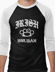 Irish Hooligan Brass Knuckles (Distressed Vintage) Men's Baseball ¾ T-Shirt