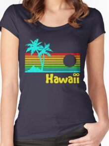 Vintage 80s Hawaii (Distressed Design) Women's Fitted Scoop T-Shirt