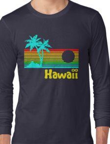 Vintage 80s Hawaii (Distressed Design) Long Sleeve T-Shirt