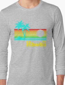 Vintage 80s Hawaii (Distressed Design) Long Sleeve T-Shirt