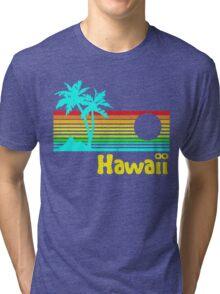 Vintage 80s Hawaii (Distressed Design) Tri-blend T-Shirt