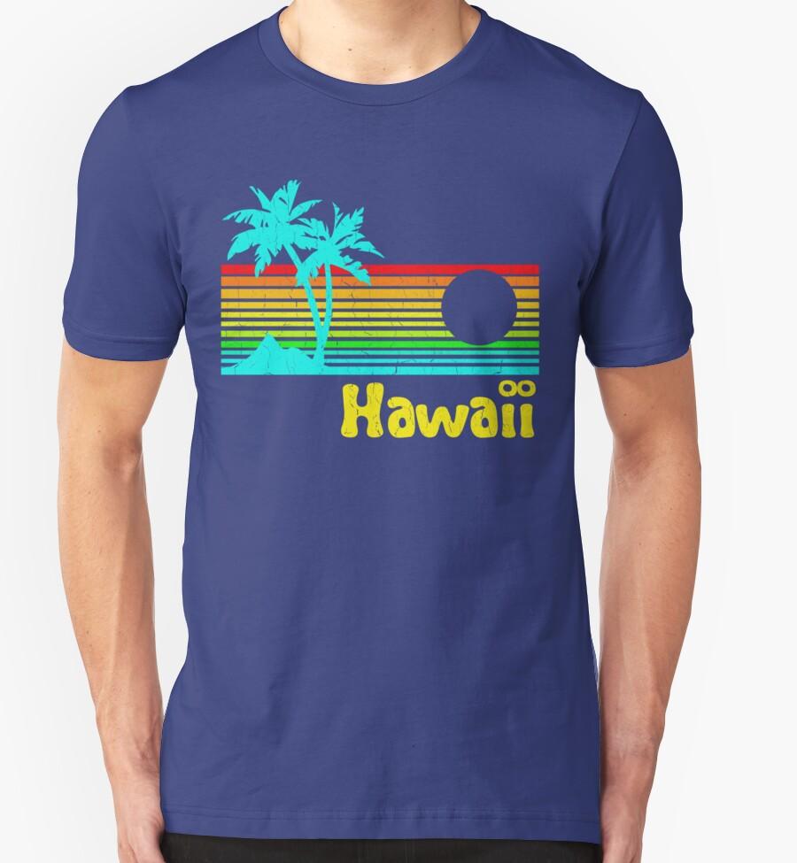 Vintage 80s hawaii distressed design t shirts for Hawaiian design t shirts