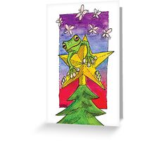 kmay xmas frog star Greeting Card