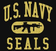 US Navy SEALS (Vintage Distressed Design) by robotface