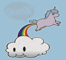 Toot! Cute Unicorn Fart (Vintage Distressed Design) Baby Tee