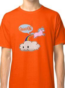 Toot! Cute Unicorn Fart (Vintage Distressed Design) Classic T-Shirt