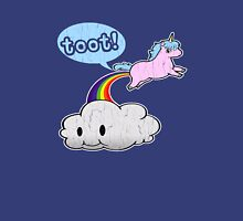 Toot! Cute Unicorn Fart (Vintage Distressed Design) Womens Fitted T-Shirt