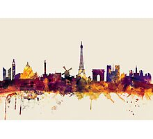 Paris France Skyline Photographic Print