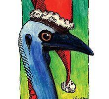 kmay xmas cassowary santa by Katherine May