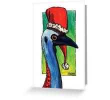 kmay xmas cassowary santa Greeting Card
