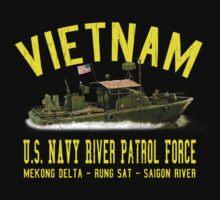 Vietnam US Navy River Patrol PBR (Vintage Distressed) by robotface