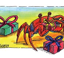 kmay xmas crab with pressies by Katherine May