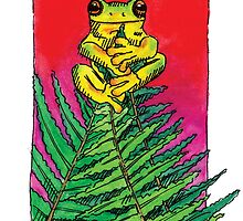 kmay xmas frog fern tree by Katherine May