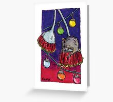 kmay xmas honey possum Greeting Card