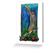 kmay xmas diving platypus Greeting Card