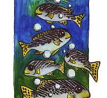 kmay xmas fish bubble tree by Katherine May